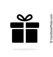 caja, illustration., regalo, iconos, grande, fondo., vector...