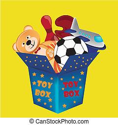 caja, juguete
