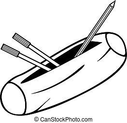 caja, lápiz, (pencil, case)