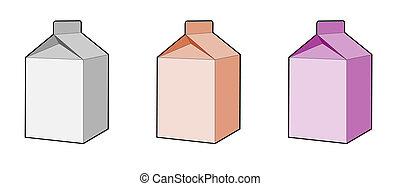 caja, leche