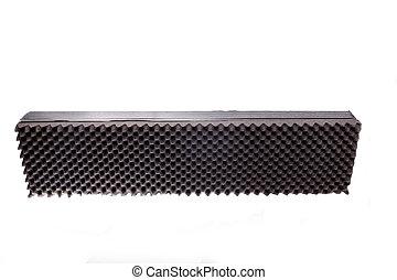 caja, microfiber, aislamiento, para, ruido, en, estudio de la música, o, acústico