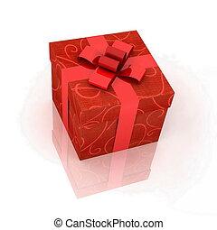 caja obsequio, en, un, fondo blanco