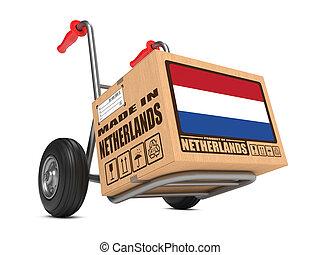 caja, países bajos, -, mano hecha, cartón, truck.