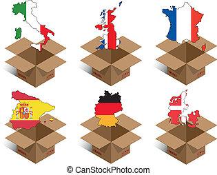 caja, países