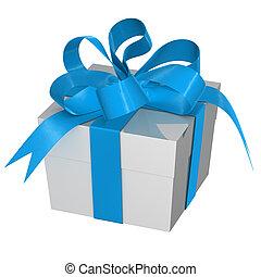 caja, presente navidad, arco