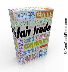 caja, producto, ch, justo, suministro, paquete, comercio, publicidad, sostenible