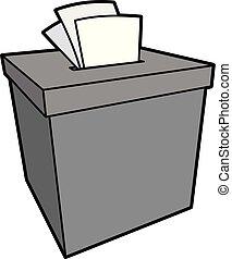 caja, queja, ilustración