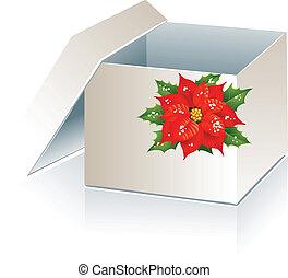 caja, regalo de navidad