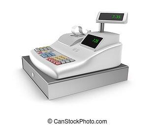 caja registradora, blanco, plano de fondo