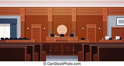 caja, secretario, vacío, interior, justicia, jurado, ...