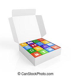 caja, software