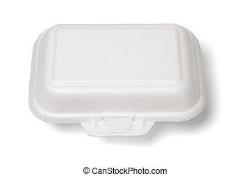 caja, styrofoam