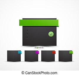 caja, tela, vector, diseño, plantilla
