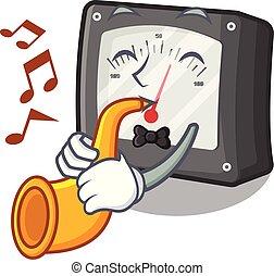 caja, trompeta, amperio, carácter, metro