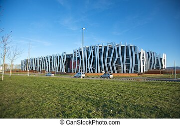 caja vital bulding at vitoria - modern building of caja...