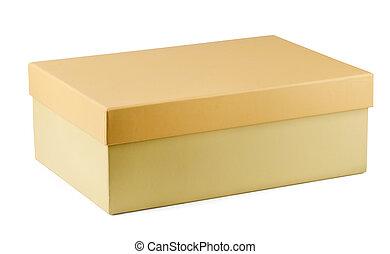caja, zapato