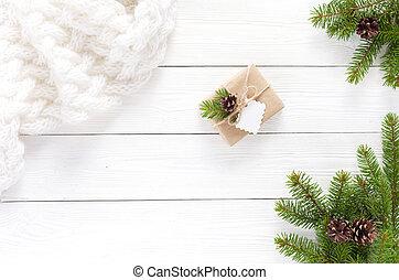 cajas, blanco, regalo