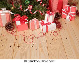 cajas del regalo, navidad, juguete