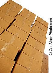 cajas, pilas