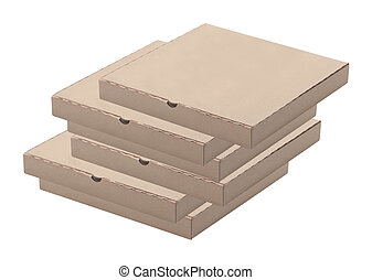 Cajas,  pizza, blanco, Plano de fondo, Pila