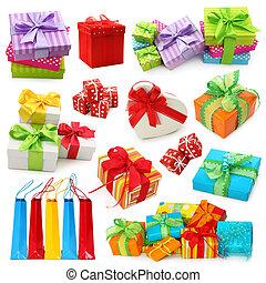 cajas, regalo, colección