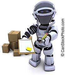 cajas, robot, envío