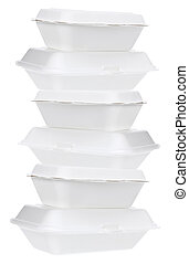 cajas, styrofoam