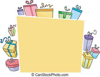 cajas, tabla, regalo