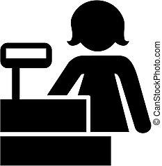 cajero, pictogram