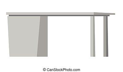 cajones, vector, illustration., escritorio de oficina