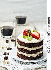 cajou, vegan, chocolat, pois chiches, gâteau, crème