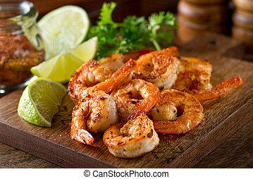 Cajun Shrimp - Delicious sauteed shrimp with cajun seasoning...