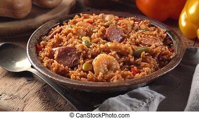 Cajun Style Jambalaya - A bowl of delicious Cajun style...