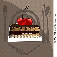 cake and cherry