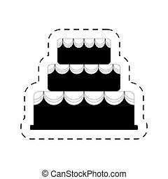 cake bakery dessert celebration party pictogram