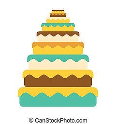 Cake big. Great pie. Food Birthday. Festive meat