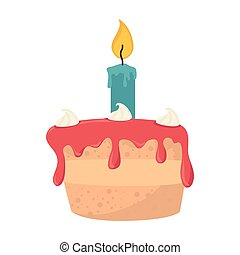 cake birthday candle
