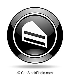 cake black glossy icon
