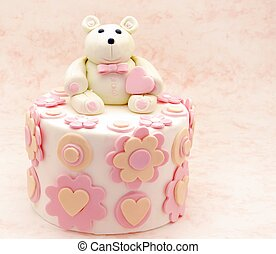 Cake decorated with fondant