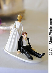 Cake decoration at wedding.