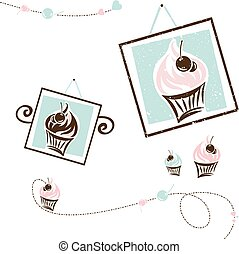 Cake Design Set For Cafe
