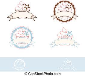 Cake Design - Cake Emblem Design Collection, Copyspace