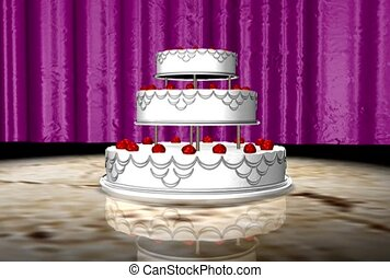 cake., fatigué, trois