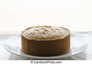 cake flour isolated on white background