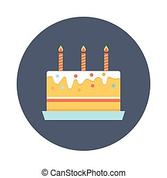 cake glyphs color circle icon
