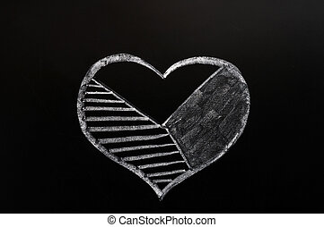 Cake graph of a heart shape