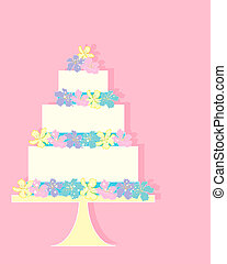 cake greeting - an illustration of a colorful greeting card ...