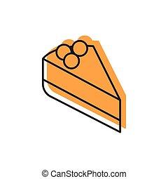 Cake icon, doodle style