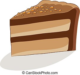 Cake Icon on a White Background Vector Illustration