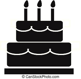 cake icon on white background. cake sign.